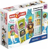 Carletto 8400123 - GEOMAG MAGICUBE, 6 Magnetic Cubes, Mix & Match, Magnetisches Konstruktionsspiel, 6-teilig