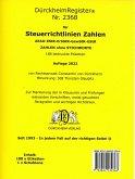 DürckheimRegister® STEUERRICHTLINIEN (2020) Gesetze und
