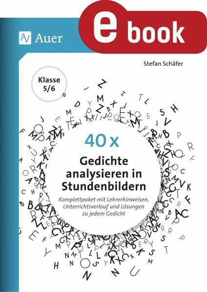 40 X Gedichte Analysieren In Stundenbildern 5 6 Ebook Pdf