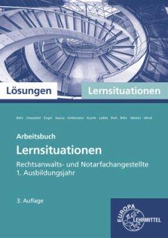 Rechtsanwalts- und Notarfachangestellte, Lernsituationen 1. Ausbildungsjahr, Lösungen