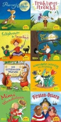 Pixi-Bundle 8er Serie 266: Bei Pixi ist der Frühling da (8x1 Exemplar) - Paulsen, Rüdiger;Volk, Katharina E.;Himmel, Anna