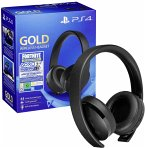 Sony PS4 Gold Wireless Headset Fortnite Neo Versa Bundle