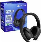 Sony PS4 Gold Wireless Headset Fortnite Neo Versa Bundle
