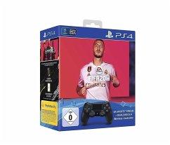 Sony Dualshock 4 (2016) Wireless Controller jet black+ Fifa 20 (PlayStation 4)