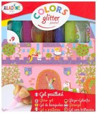 9 Glitter-Glue Stifte Pastel