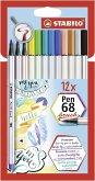 STABILO Pen 68 brush 12er Kartonetui