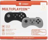 snakebyte MULTI:PLAYCON, 2 Bluetooth-Controller, schwarz & grau