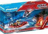 PLAYMOBIL® 70335 Feuerwehreinsatz mit Heli und Boot