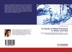 To Study of Metal Elements in Water and Soil