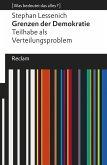 Grenzen der Demokratie. Teilhabe als Verteilungsproblem (eBook, ePUB)