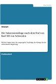 Die Sukzessionsfrage nach dem Tod von Karl XII von Schweden