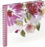 Hama Watercolor Flower 28x24 50 weiße Seiten Spiralalbum 2654