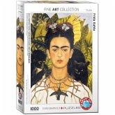 Eurographics 6000-0802 - Selbstbildnis mit Dornenhalsketten und Kolibri von Frida Kahlo, Puzzle