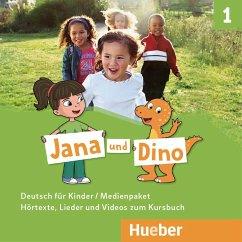 Jana und Dino - Medienpaket, 2 Audio-CDs und 1 DVD zum Kursbuch - Georgiakaki, Manuela; Priesteroth, Michael