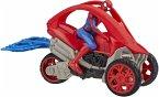 Hasbro E77395X0 - Marvel Spider Man, Rip'n Go, Spider Man Stunt Fahrzeug, 15 cm