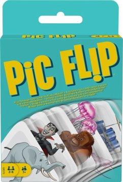Image of Mattel Games Pic Flip, Kartenspiel, Gesellschaftsspiel, Familienspiel