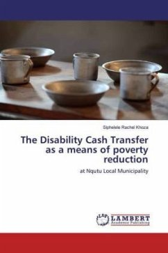 The Disability Cash Transfer as a means of poverty reduction