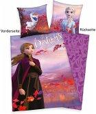 Herding 4479650050 - Disney's Die Eiskönigin 2, My Destiny' Calling, Wende-Bettwäsche mit Reißverschluss, Frozen, Baumwolle, 135x200cm