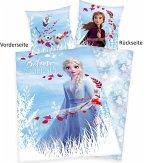 Herding 4679645050 - Disney's Die Eiskönigin 2, Believe in the Journey, Wende-Bettwäsche mit Knopfleiste, Frozen, Baumwolle, 135x200cm
