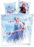 Herding 4479645050 - Disney's Die Eiskönigin 2, Believe in the Journey, Wende-Bettwäsche mit Reißverschluss, Frozen, Baumwolle, 135x200cm