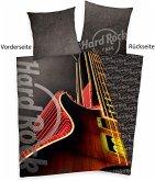 Herding 4455402050 - HARD ROCK Gitarren-Motiv, Wende-Bettwäsche-Set mit Reißverschluss, Baumwolle, 135x200cm