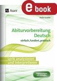 Lyrik analysieren und interpretieren (eBook, PDF)