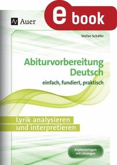 Lyrik analysieren und interpretieren (eBook, PDF) - Schäfer, Stefan
