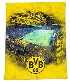 BVB 19820400 - BVB-Fleecedecke mit Stadionprint, Borussia Dortmund, 150x200cm