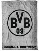 BVB 17820300 - BVB-Fleecedecke, Borussia Dortmund, grau, 150x200cm