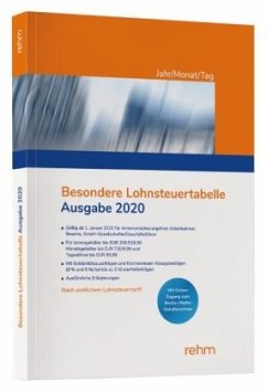 Besondere Lohnsteuertabelle 2020 Jahr/Monat/Tag