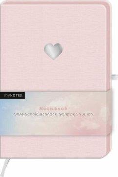 myNOTES Notizbuch Classics Herz rosa - Notizbuch im Mediumformat für Träume, Pläne und Ideen
