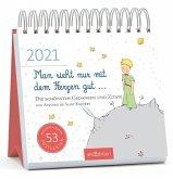 Postkartenkalender Man sieht nur mit dem Herzen gut ... 2021