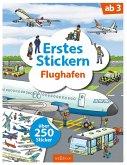 Erstes Stickern Flughafen