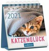 Miniwochenkalender Katzenglück 2021 - kleiner Aufstellkalender mit Wochenkalendarium