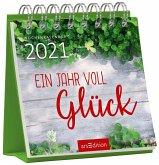 Miniwochenkalender Glücklich durchs Jahr 2021 - kleiner Aufstellkalender mit Wochenkalendarium