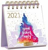 Miniwochenkalender 365 Tage Gelassenheit 2021 - kleiner Aufstellkalender mit Wochenkalendarium