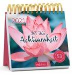 Postkartenkalender 365 Tage Achtsamkeit 2021 - Wochenkalender mit abtrennbaren Postkarten