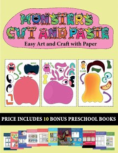 Easy Art and Craft with Paper (20 full-color kindergarten cut and paste activity sheets - Monsters) - Manning, James