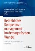 Betriebliches Kompetenzmanagement im demografischen Wandel (eBook, PDF)