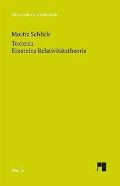 Texte zu Einsteins Relativitätstheorie (eBook, PDF) - Schlick, Moritz