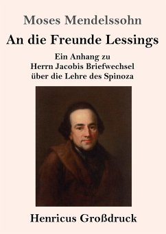 An die Freunde Lessings (Großdruck) - Mendelssohn, Moses