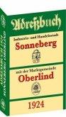 Adreßbuch / Einwohnerbuch der Stadt SONNEBERG mit Oberlind 1924
