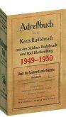 Adreßbuch für den Kreis Rudolstadt mit den Städten Rudolstadt und Bad Blankenburg 1949-1950