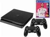 Sony Playstation 4 1TB Slim schwarz inkl. FIFA 20 / 2. Contr