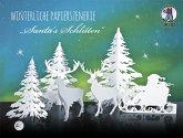 """URSUS Winterliche Papierszenerie """"Santas Schlitten"""""""