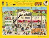 Wimmel-Rahmenpuzzle Bahnhof im Frühling (Kinderpuzzle)