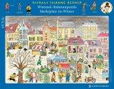Wimmel-Rahmenpuzzle Marktplatz im Winter (Kinderpuzzle)