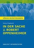 In der Sache J. Robert Oppenheimer von Heinar Kipphardt