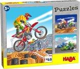 HABA 305120 - Puzzles Motorsport, 48 Teile