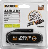 Worx WA3572 20V 2,5Ah Li-Ion Akku